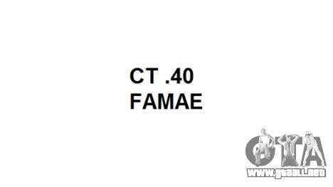 Máquina de FAMAE CT-40 icon1 para GTA 4 tercera pantalla