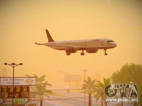 Airbus A321-232 jetBlue Batty Blue para visión interna GTA San Andreas