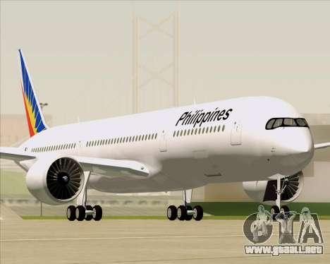 Airbus A350-900 Philippine Airlines para el motor de GTA San Andreas