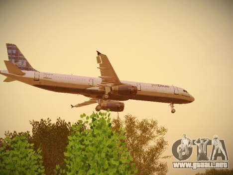 Airbus A321-232 jetBlue Whole Lotta Blue para visión interna GTA San Andreas