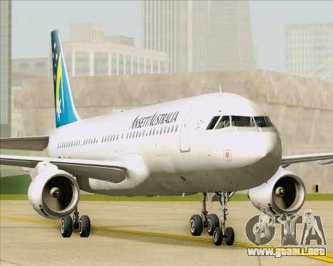 Airbus A320-200 Ansett Australia para visión interna GTA San Andreas