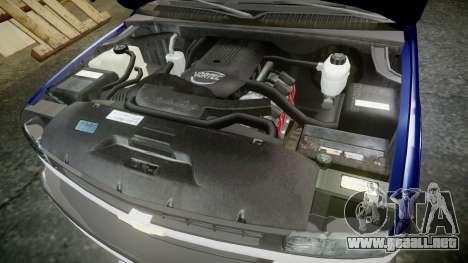 Chevrolet Suburban Undercover 2003 Grey Rims para GTA 4 vista interior