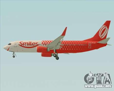 Boeing 737-800 de Gol Transportes Aéreos para la vista superior GTA San Andreas