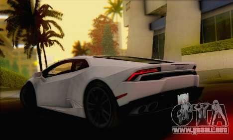 Lamborghini Huracan 2014 para GTA San Andreas left