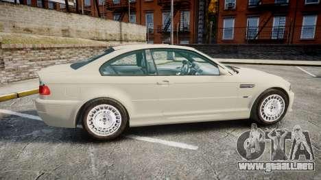 BMW M3 E46 2001 Tuned Wheel White para GTA 4 left