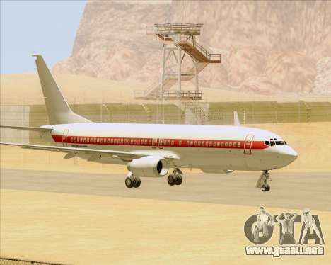 Boeing 737-800 EG&G - Janet para GTA San Andreas vista hacia atrás