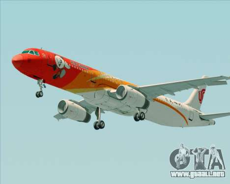 Airbus A321-200 Air China (Beautiful Sichuan) para las ruedas de GTA San Andreas
