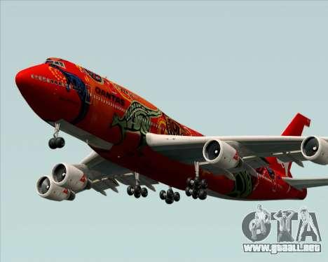 Boeing 747-400ER Qantas (Wunala Dreaming) para visión interna GTA San Andreas