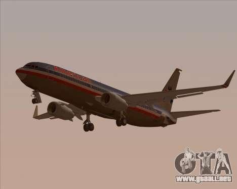 Boeing 737-800 American Airlines para vista inferior GTA San Andreas