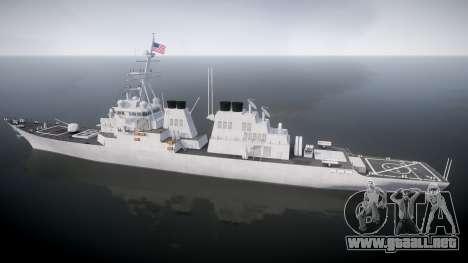 US Navy Destroyer Arleigh Burke para GTA 4 left