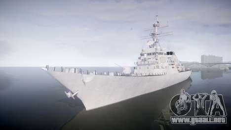 US Navy Destroyer Arleigh Burke para GTA 4