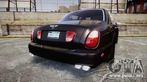 Bentley Arnage T 2005 Rims2 Chrome para GTA 4 Vista posterior izquierda