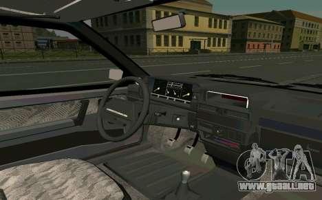 VAZ 2108 Turbo-AZÚCAR para la visión correcta GTA San Andreas