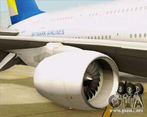 Airbus A380-800 Skymark Airlines para GTA San Andreas