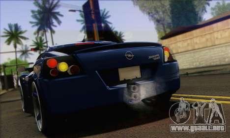 Opel Speedster para la visión correcta GTA San Andreas
