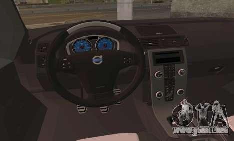 Volvo XC70 K9 Politie para GTA San Andreas vista posterior izquierda