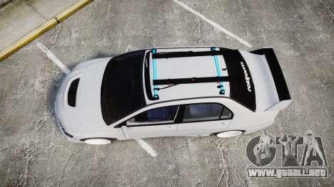 Mitsubishi Lancer Evolution VIII Stance para GTA 4 visión correcta
