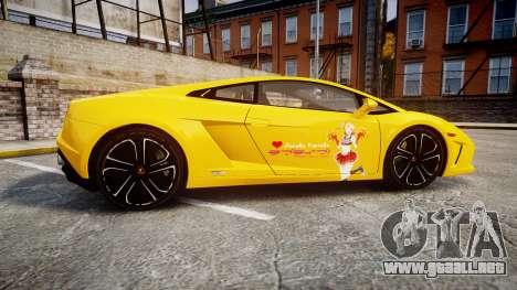 Lamborghini Gallardo 2013 HDD Honoka Kousaka para GTA 4 left