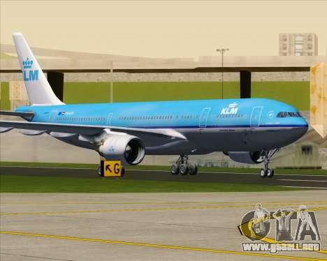 Airbus A330-200 KLM - Royal Dutch Airlines para vista inferior GTA San Andreas