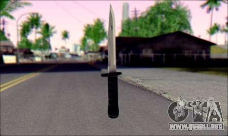 Knife from Death to Spies 3 para GTA San Andreas segunda pantalla