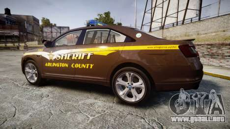Ford Taurus Sheriff [ELS] Virginia para GTA 4 left
