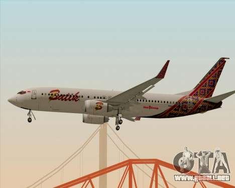 Boeing 737-800 Batik Air para la visión correcta GTA San Andreas