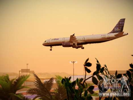 Airbus A321-232 jetBlue Whole Lotta Blue para el motor de GTA San Andreas