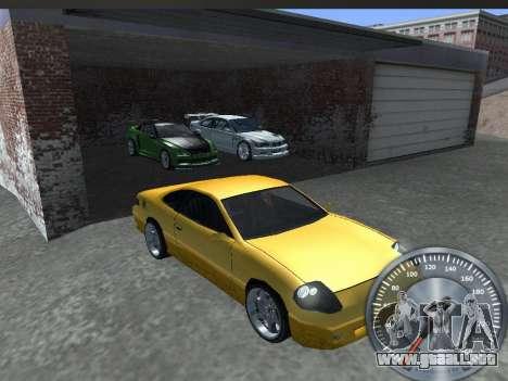 Metal clásico velocímetro para GTA San Andreas sucesivamente de pantalla