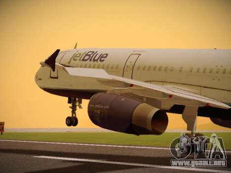 Airbus A321-232 jetBlue Batty Blue para GTA San Andreas