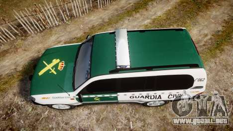 Toyota Land Cruiser Guardia Civil Cops [ELS] para GTA 4 visión correcta