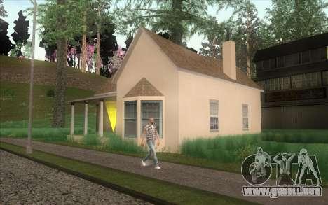 Nueva casa de CJ en Angel Pine para GTA San Andreas sucesivamente de pantalla