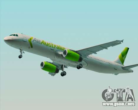 Airbus A321-200 Air Australia para las ruedas de GTA San Andreas