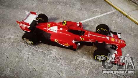 Ferrari F138 v2.0 [RIV] Massa TSD para GTA 4 visión correcta