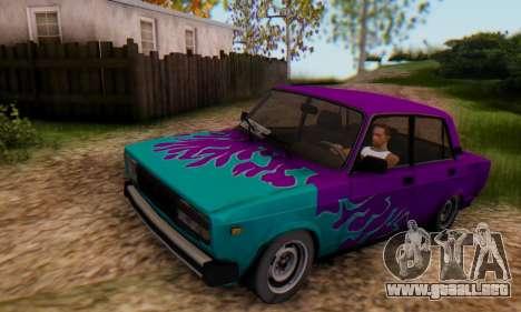 VAZ 2107 Llama Azul para GTA San Andreas