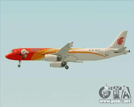 Airbus A321-200 Air China (Beautiful Sichuan) para el motor de GTA San Andreas