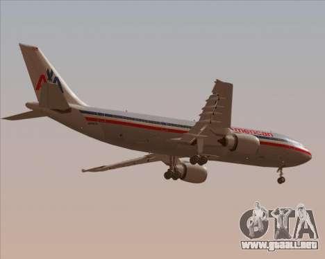 Airbus A300-600 American Airlines para vista inferior GTA San Andreas