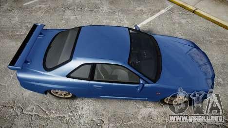 Nissan Skyline R-34 V-spec para GTA 4 visión correcta