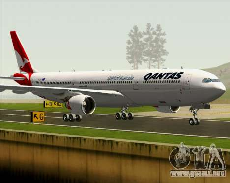 Airbus A330-300 Qantas (New Colors) para vista inferior GTA San Andreas