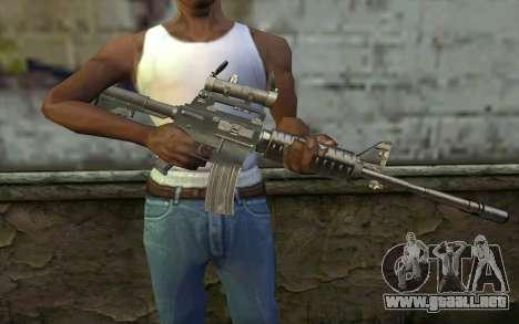 M4 from Hitman 2 para GTA San Andreas tercera pantalla
