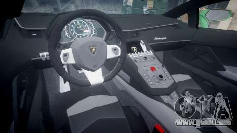 Lamborghini Aventador LP760-4 Camo Edition para GTA 4 vista hacia atrás