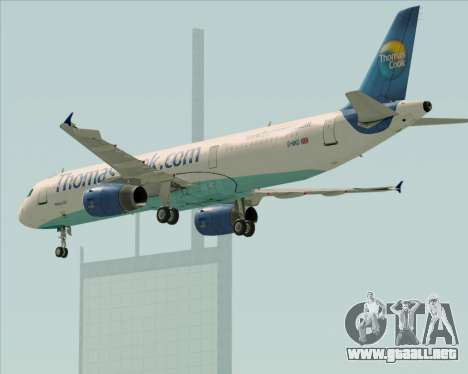 Airbus A321-200 Thomas Cook Airlines para vista inferior GTA San Andreas