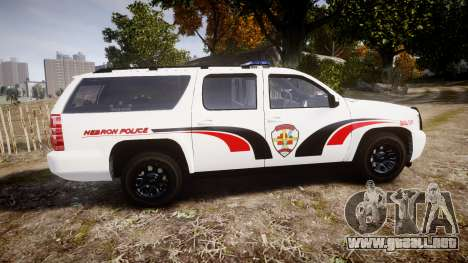 Chevrolet Suburban 2008 Hebron Police [ELS] Blue para GTA 4 left