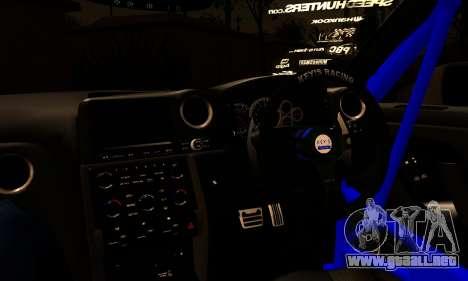 Nissan GTR Tuning para GTA San Andreas vista posterior izquierda