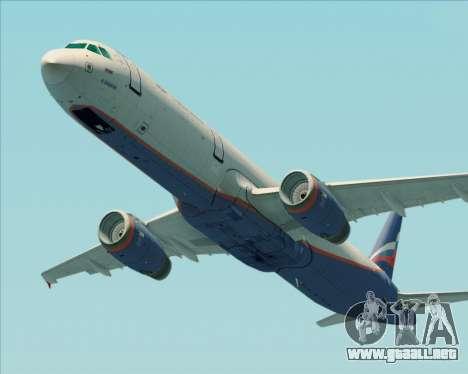 Airbus A321-200 Aeroflot - Russian Airlines para visión interna GTA San Andreas