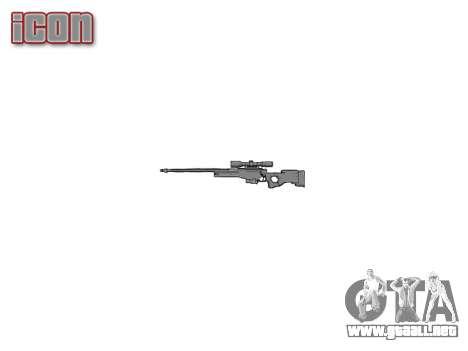 Sniper rifle L96A1 Magnum para GTA 4 tercera pantalla