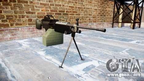 Luz ametralladora M249 SAW para GTA 4