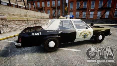 Ford LTD Crown Victoria 1987 Police CHP1 [ELS] para GTA 4 left