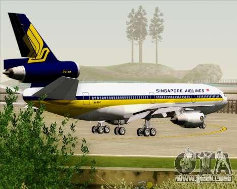 McDonnell Douglas DC-10-30 Singapore Airlines para las ruedas de GTA San Andreas
