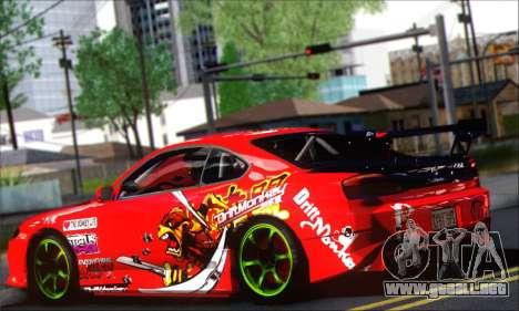 Nissan Silvia S15 Team Drift Monkey para GTA San Andreas vista posterior izquierda