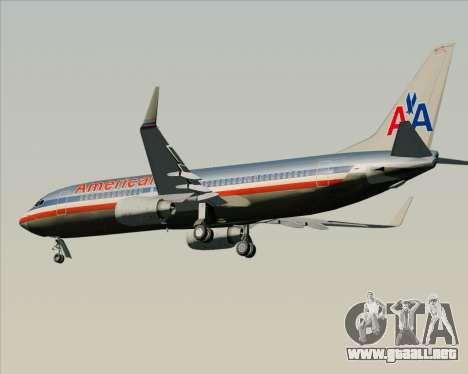 Boeing 737-800 American Airlines para GTA San Andreas vista hacia atrás